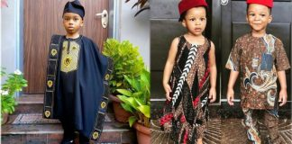 KOKO Junior: See Cute Snaps Of Okoye Twins And Andre Dikeh As They Step Out For Cultural Day