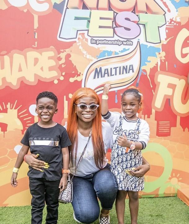 Cuties! Davido's Daughter, Imade Adeleke And Tiwa Savage's Son Jamil Are So Adorable 3