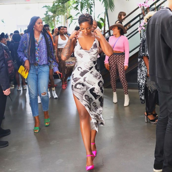 Tiwa Savage Stuns In LaQuan Smith As She Attends The Designer's NYFW Show 3