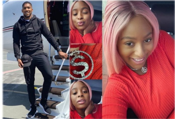 DJ Cuppy Flaunts Necklace Gift From Anthony Joshua, Vows To Rock It Everywhere