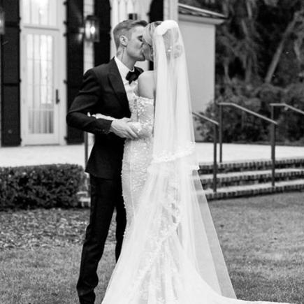 The Biebers! Hailey Baldwin Shares Stunning Unique Wedding Dress Of Dream Wedding To Justin Bieber 4