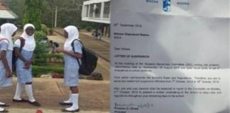 Toor! The International School, University Of Ibadan Suspends Student For Wearing Hijab