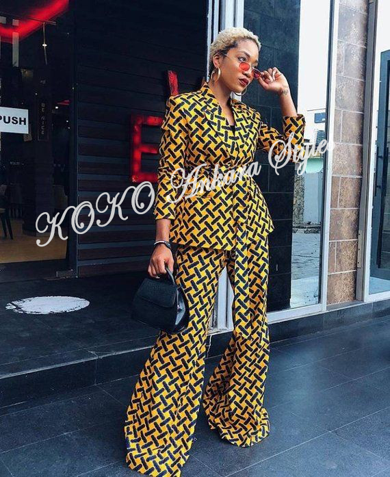 Classy Ankara Jackets/Blazers And Trousers For Every Classy Fashionista