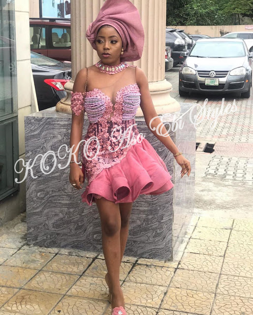 Short And Spicy! Adorable Aso Ebi Styles To Round Off October