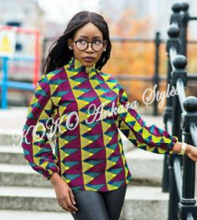 Look Office Smart And Stylish In These 5 Stunning Ankara Tops 3