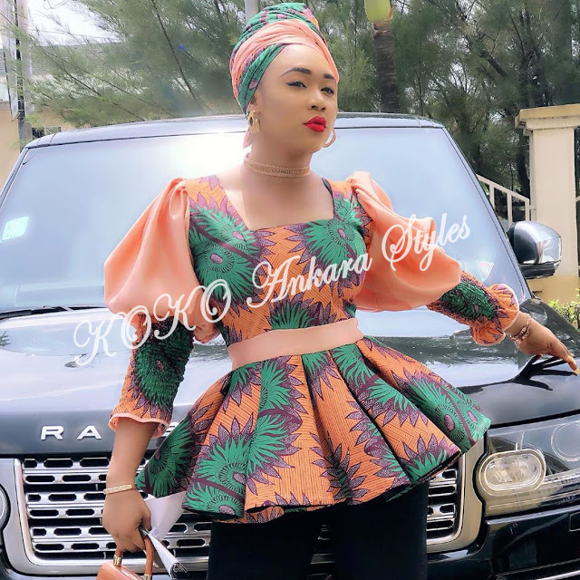 Look Office Smart And Stylish In These 5 Stunning Ankara Tops 6