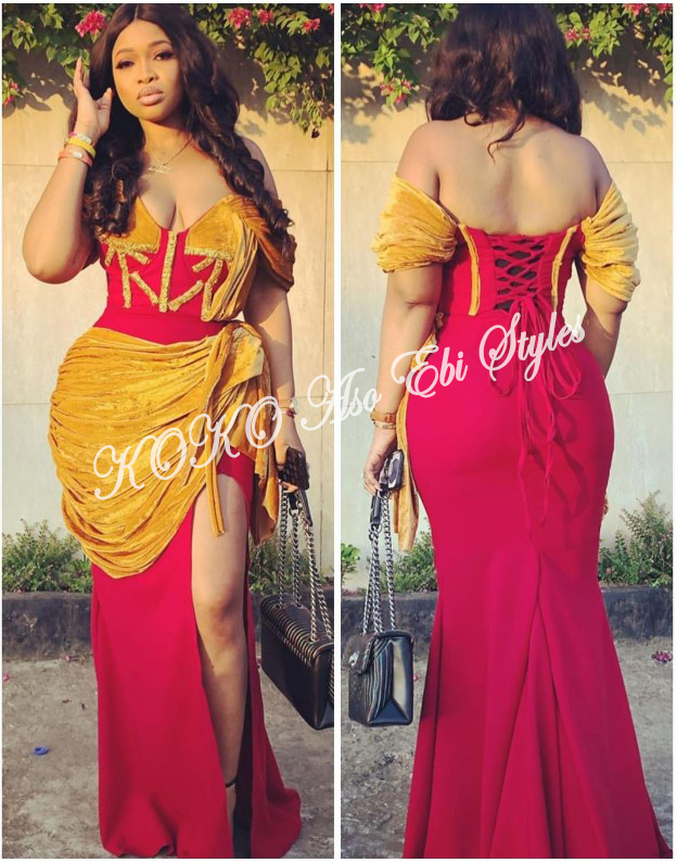 Slay Your Queenship In These Daring Slit Aso Ebi Styles