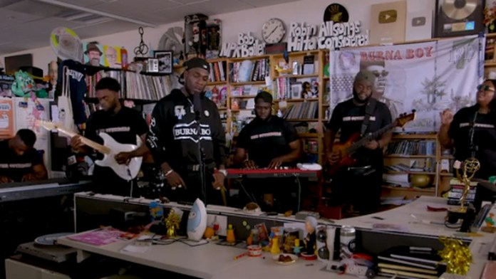 Burna Boy's Tiny Desk Concert Video Is Finally Out {Video} 2