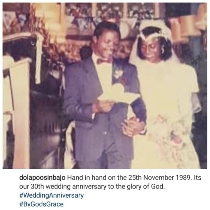 Hand In Hand: Yemi Osinbajo's Wife Dolapo Celebrates Their 30th Year Together 2
