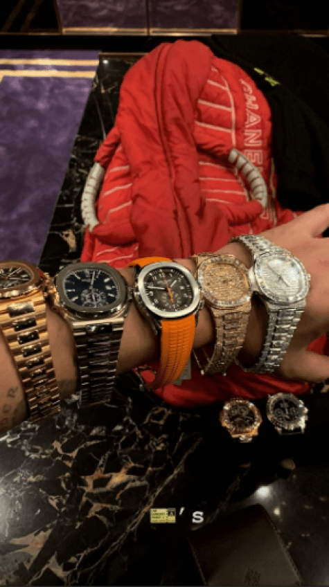 Drake Flaunts Collection Of Watches On IG 2