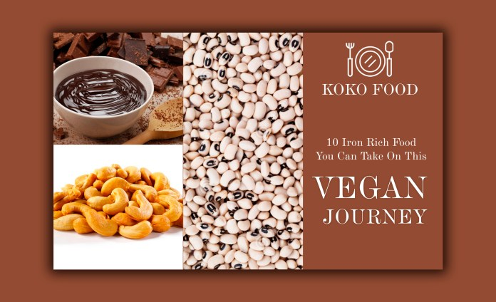 FOOD: 10 Iron Rich Food You Can Take On This Vegan Journey
