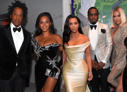 Friends Again! Kanye West And Jay Z Reunites At Diddy's 50th Birthday Party 7