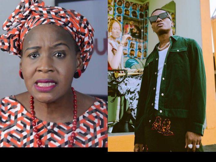 Kemi Olunloyo Cries Over Wizkid's Involvement In EndSARS Protest
