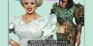 Detailed and Power-Sleeved Aso Ebi Styles You Should Rock For The Next Owambe