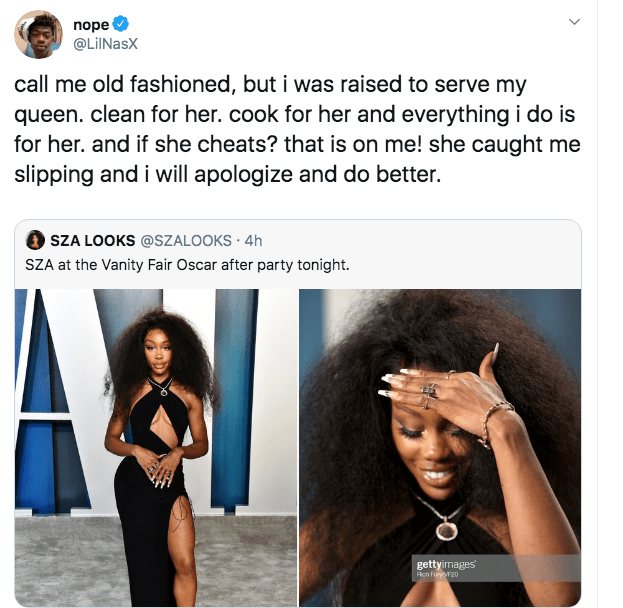 """""""I Was Raised To Serve My Queen"""", Lil Nas X Sparks Relationship Rumour With SZA"""