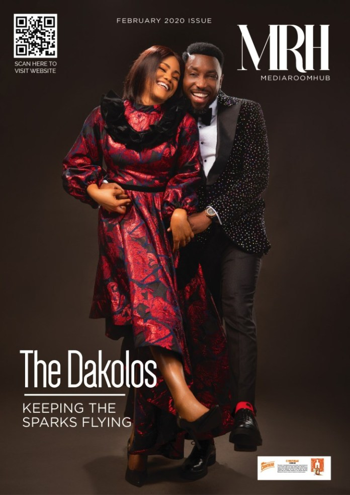 Timi And Busola Dakolo Are Adorable On The February Issue Of Media Room Hub Magzine