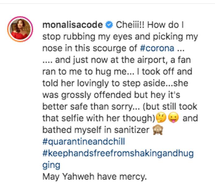 """I Took Off"", Monalisa Reveals How Coronavirus Made Her Run Away From A Fan"