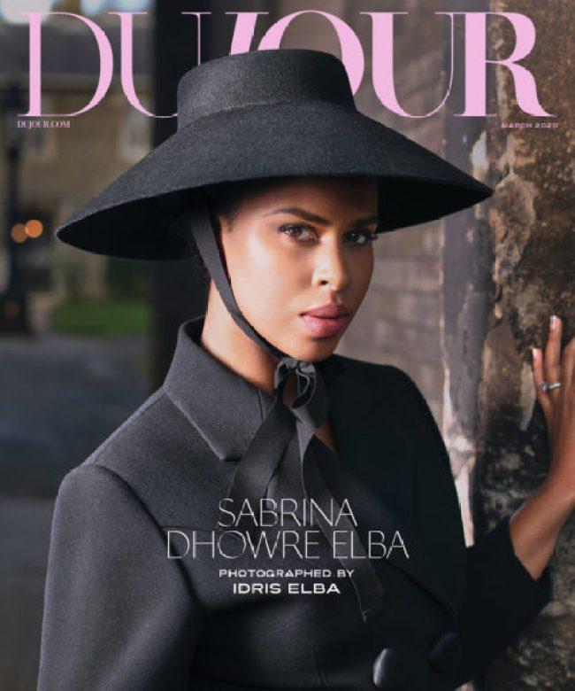 Sabrina Dhowre Elba Looks Stunning On The Latest Issue Of DuJour Magazine