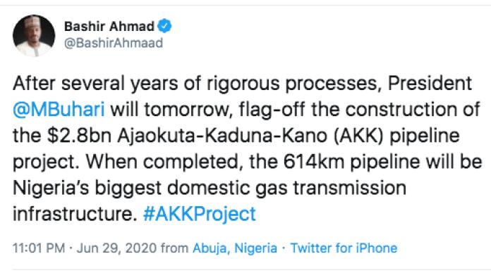 Buhari Flags Off Ajaokuta-Kaduna-Kano Pipeline Construction