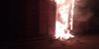 Fire Guts INEC Ondo Office