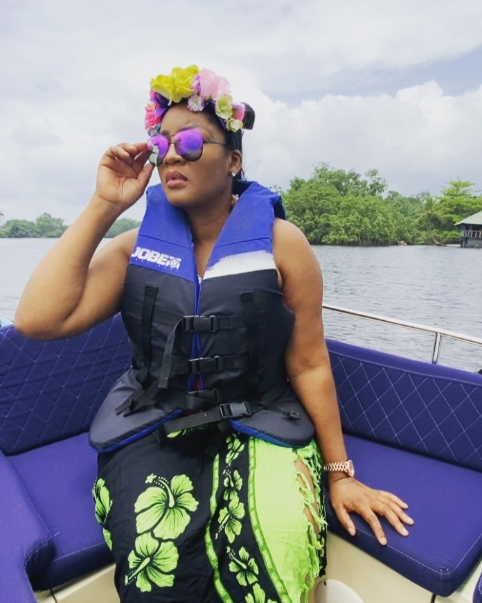Omotola Jalade-Ekeinde & Her Kids Are Serving Family Goals On Their Staycation