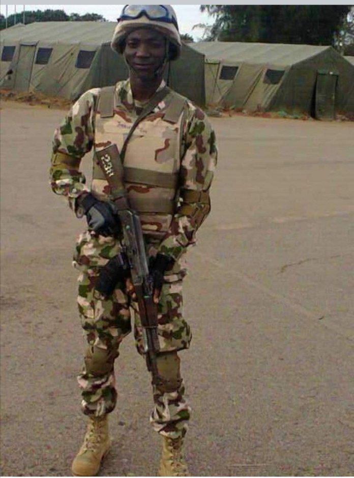 Deceased soldier