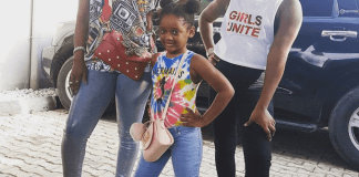 Annie Idibia celebrates daughter Olivia's bravery