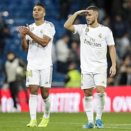 Hazard And Casemiro Real Madrid