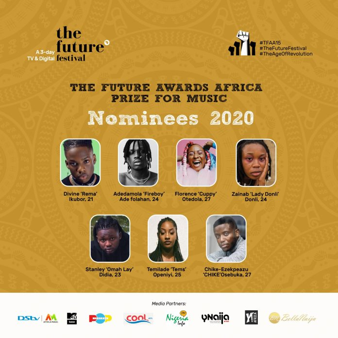 Chike, Rema, Tems, Tao, Don Jazzy, Others Nominated For The Future Festival Awards