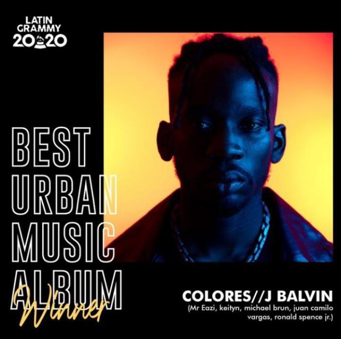 J Balvin, Mr Eazi, Others Bag Grammy Award For Best Urban Music Album