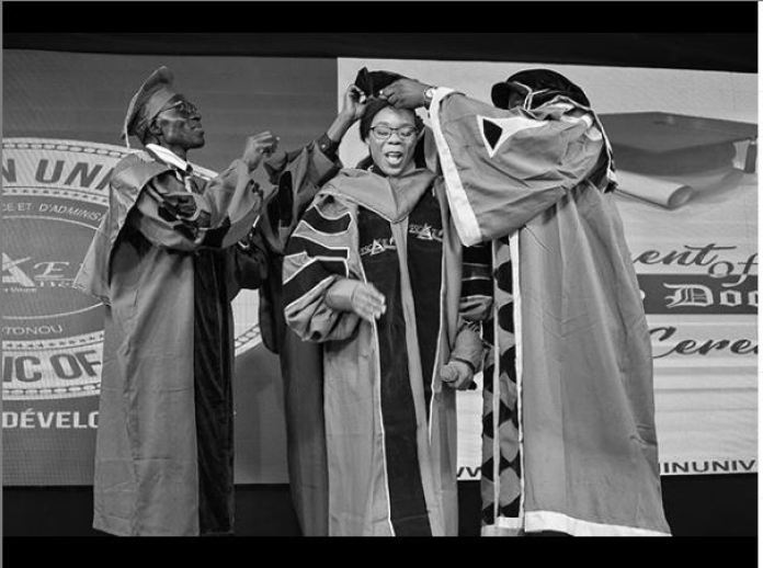 Kaffy Ameh Bags Honorary Doctorate Degree From ESCAE Benin University