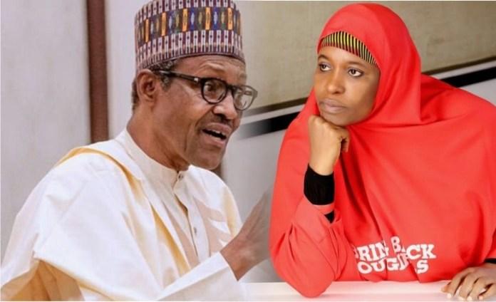 Buhari and Aisha Yesufu
