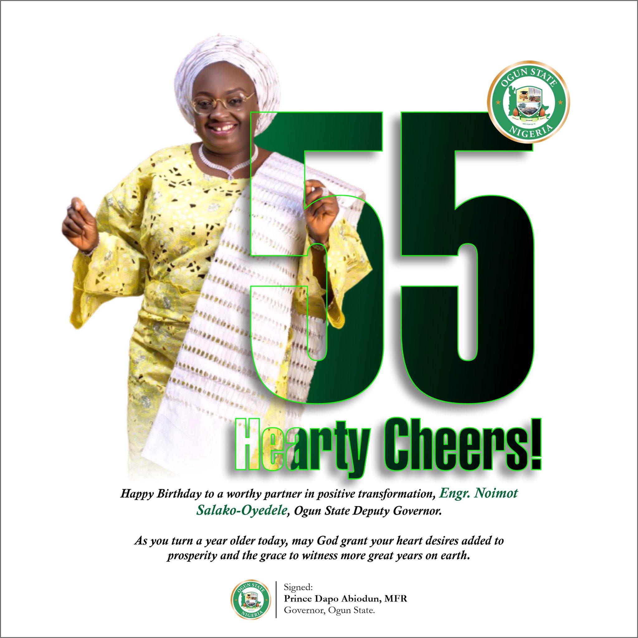 A Worthy Partner In Transformation – Dapo Abiodun Celebrates Deputy On 55th Birthday