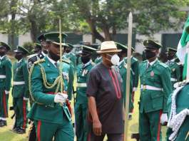 Nyesom Wike at the Remembrance Day Parade