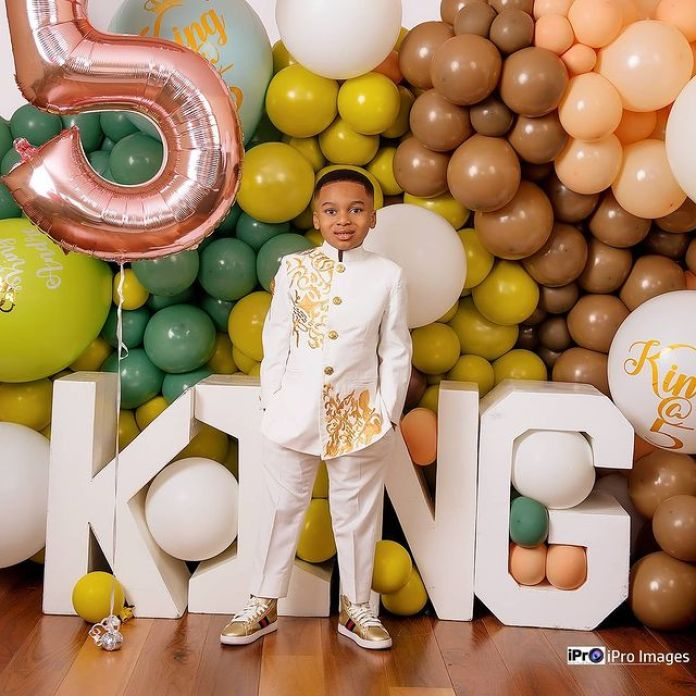 Tonto Dikeh Celebrates Her Son, King Andre, As He Turns 5