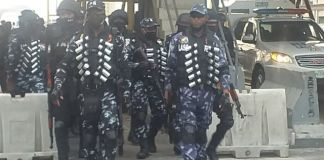 Police Officers At The Toll Gate