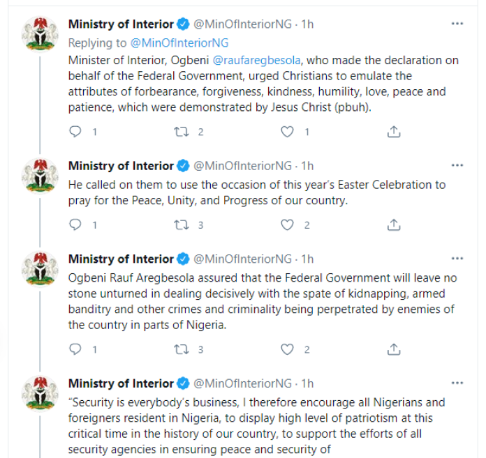 Federal Government Declares Good Friday, Easter Monday Public Holiday