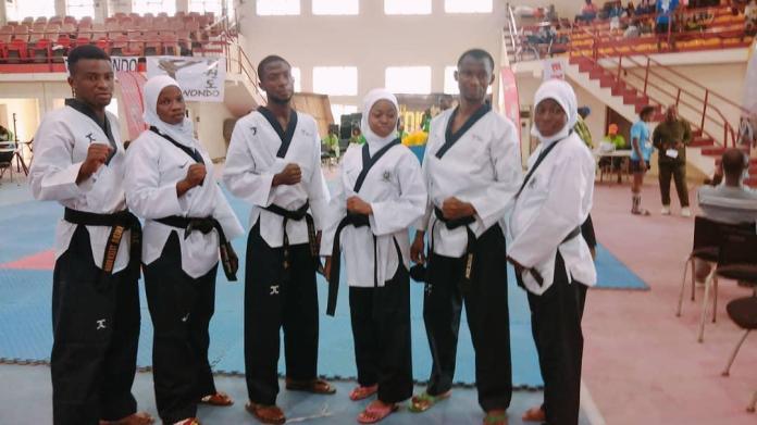 Aminat idrees and Poomsae team