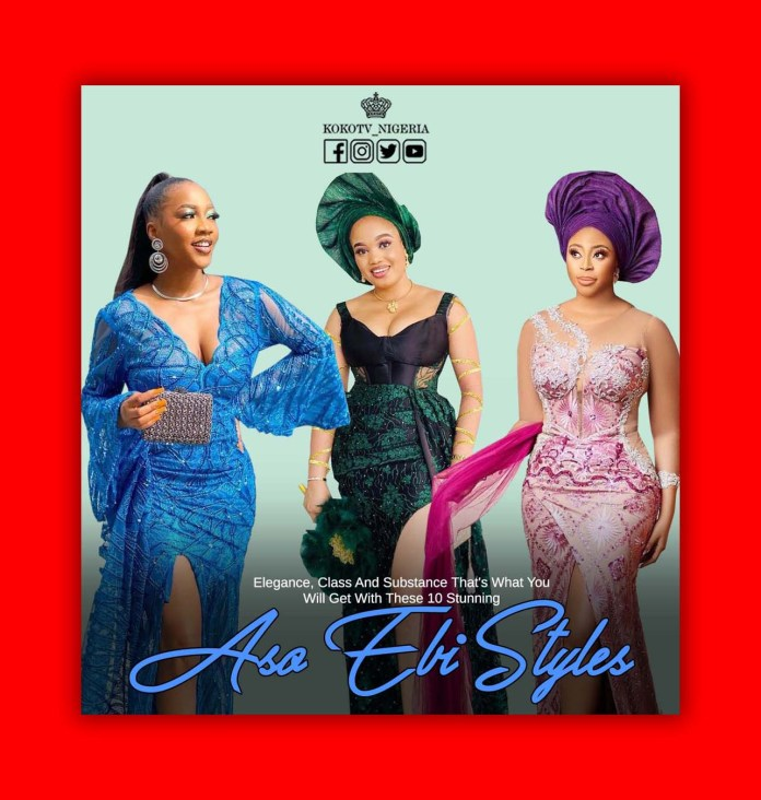 Elegance, Class And Substance... That's What You Will Get With These 10 Stunning Aso Ebi Styles