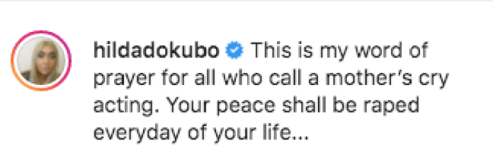 Your Peace Shall Be Raped Everyday - Hilda Dokubo Slams Those Saying Princess Is Faking Her Cries