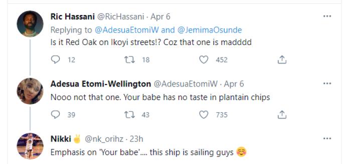 Despite Disclaimer, Adesua Etomi Keeps Hinting Ric Hassani And Jemima Osunde Are Dating