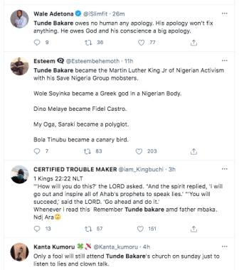 Tweeps drag clergies Tunde Bakare and Father Mbaka KOKO TV Nigeria 1