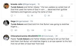 Tweeps drag clergies Tunde Bakare and Father Mbaka KOKO TV Nigeria 4
