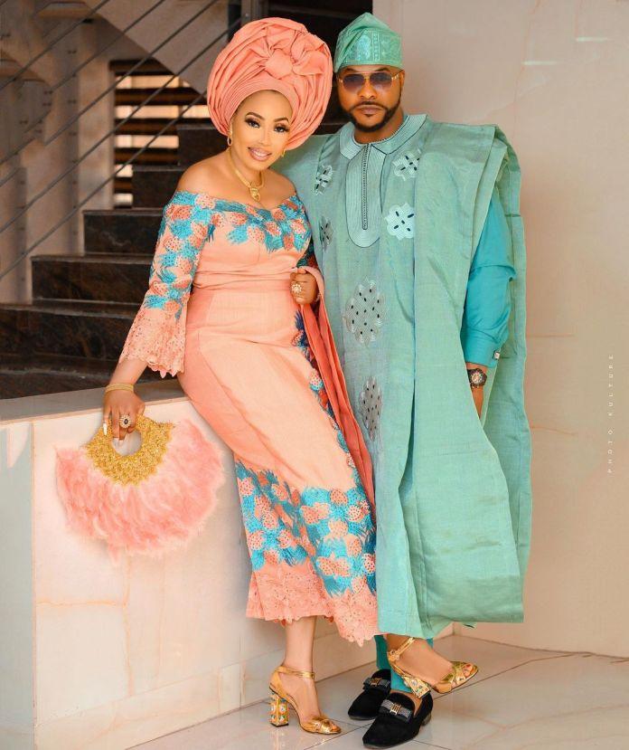 Bolanle Ninolowo and wife Bunmi