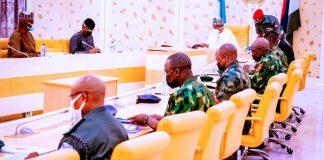 Buhari and Osinbajo in SECURITY-MEETING KOKO TV NG