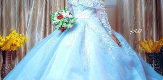 Etinosa Idemudia in a wedding dress