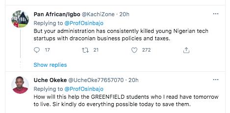 Nigerians Drag Osinbajo Over Microsoft Tweet Amidst Worries About Greenfield University Students