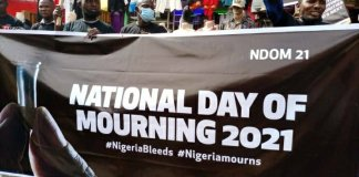 Nigerians march for National Day of mourning