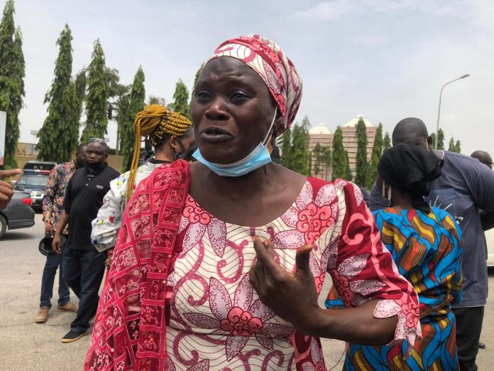 Parents Of Abducted Kaduna Students Protest At The National Assembly