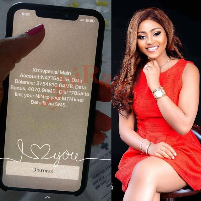 Regina Daniels Shows Off The Data And Airtime Worth On Her Phone